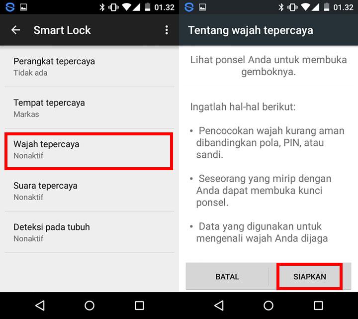 menggunakan smart lock pada
